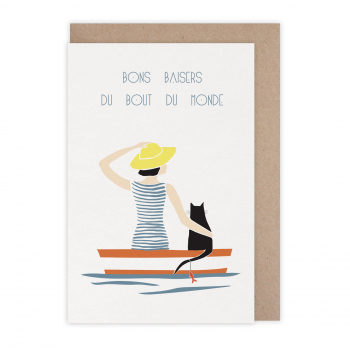 Carte Bons baisers barque
