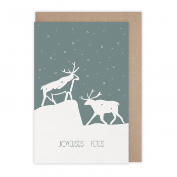 Carte Joyeuses fêtes Svalbard
