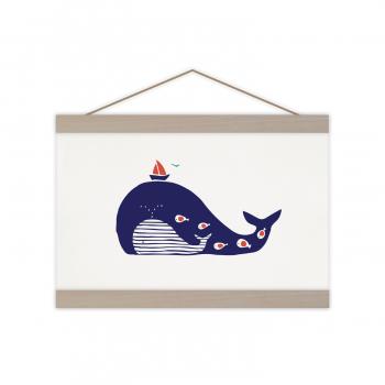 A4 Print Baleine rayée