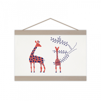 A4 Print Girafes