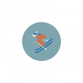 Badge Skieur
