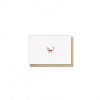 Mini card Crabe