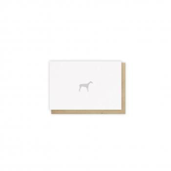 Mini card Lévrier