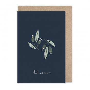 Card Meilleurs vœux fleuris