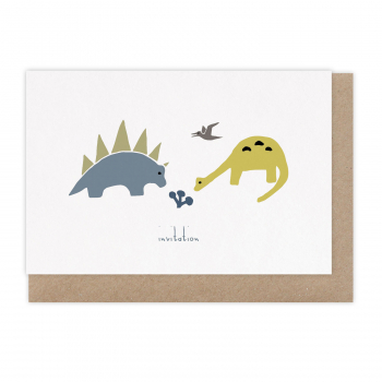 Card Invitation Dino