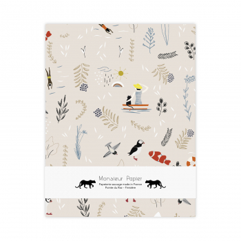 Drawing notebook Pattern beige