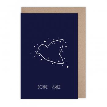 Card Bonne année constellation