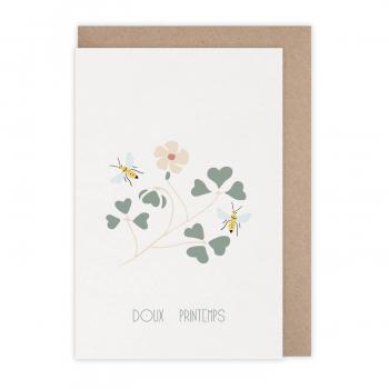 Carte Doux printemps
