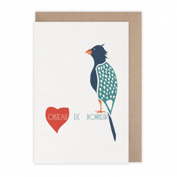 Carte Oiseau de bonheur