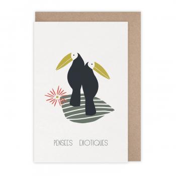 Carte Pensées exotiques...