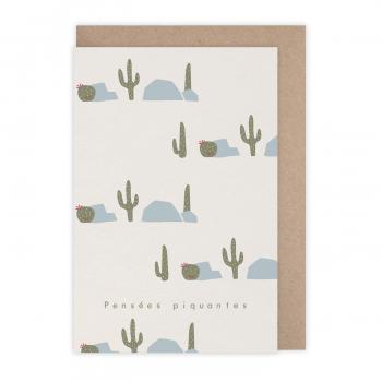 Carte Pensées piquantes cactus