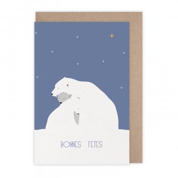 Card Bonnes fêtes polaire