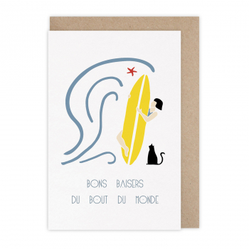 Card Bons baisers surf