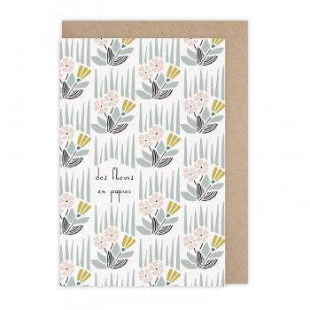 Carte Des fleurs en papier
