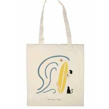 Tote Bag Baigneuse surf