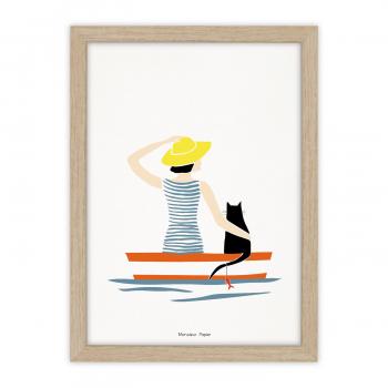 Poster Baigneuse barque