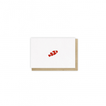 Mini card Poisson-clown