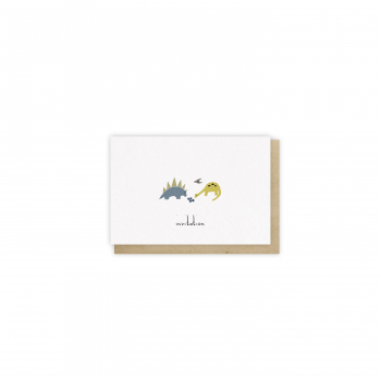 Mini card Invitation Dino