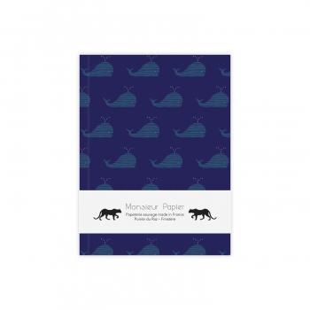 Carnet S Baleine bleue